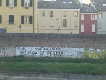 la frase storica nel torrente Parma...