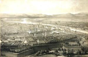 Parma l'Italie a vol d'oiseau di A. Guesmand 1850 ca